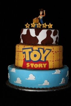 Toy Story Cake, awesome! Would go great with Toy Story temporary tattoos #toystory