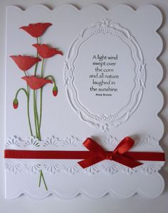 Prim poppy, my favorite Memory box die. With Spellbinders elegant ovals.