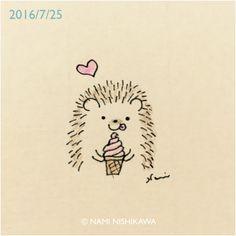 This little heggie likes sweet things! ©Nami Nishikawa