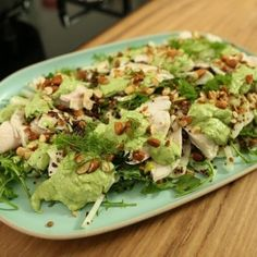 This poached Chicken Salad with green dressing is an easy to create, tasty salad packed with goodness.