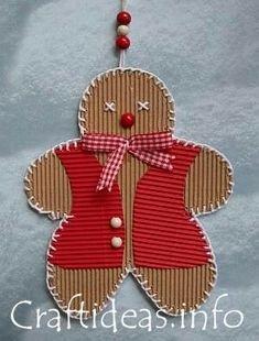 Corrugated cardboard crafts – DIY in 2020 Animal Crafts For Kids, Paper Crafts For Kids, Cardboard Crafts, Christmas Crafts For Kids, Holiday Crafts, Christmas Diy, Christmas Decorations, Christmas Ornaments, Gingerbread Ornaments