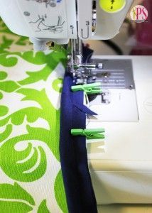 Sewing Hacks | Best Tips and Tricks for Sewing Patterns, Projects, Machines, Hand Sewn Items. Clever Ideas for Beginners and Even Experts  |  Use Mini Clothespins when Sewing Bindings and Piping  |  http://diyjoy.com/sewing-hacks