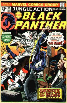 T'Challa fights the Ku Klux Clan! (That's how they spell it on the cover.)