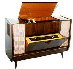 1950's Telefunken Hi Fi Console Consoles Stereo, 1950S Style, Retro Consoles, 1950 S Telefunken, Mid Century, Vintage Electronics, Retro Tech, High Fidelity ,living room speakers