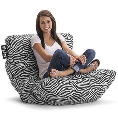 Big Joe Roma Bean Bag Chair Dorm Comfort Seat Lounge Cozy Room  Zebra NEW #BigJoe