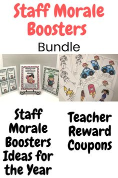 Staff Morale Booster Ideas for the Year Bundle