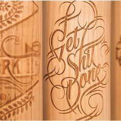 Wood spray paint by by designspiration Instagram Accounts, Instagram Posts, Script Type, Alphabet, Typography, Letters, Wood, Crafts, Calligraphy