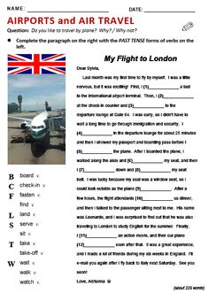 FREE printable ESL/EFL 'Airports' practice: Listening and Speaking; Reading and Writing; Vocabulary