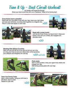 Best Circuit Workout...with video and a printable workout sheet