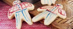 Hvite kakemenn og kakedamer Sugar, Cookies, Desserts, Food, Crack Crackers, Tailgate Desserts, Deserts, Meal, Eten