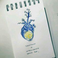 New art sketches creative fun Ideas Vincent Van Gogh, Tattoo Drawings, Art Drawings, Tattoos, Art Mots, Art Du Croquis, Arte Sketchbook, Van Gogh Art, Diy Tattoo