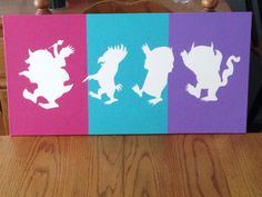Where the Wild Things Are Canvas. Done for The Triplets Nursery.