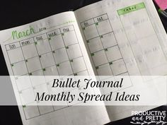 Bullet Journal Monthly Spreads (Ideas and Variations)