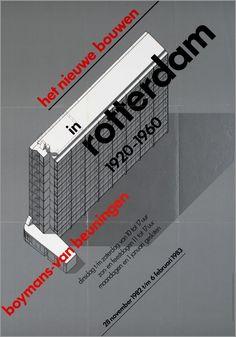 Wim Crouwel / Total Design -  exhibition poster c.1982