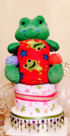 My Good Luck Frog Diaper cake