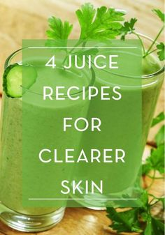 Juice Up! These Derms Have The Recipe for Better Skin Juicing can work magic on another very important aspect of your body: it can give you amazing skin. Try these 4 juice recipes for clearer skin. Smoothies Detox, Juice Smoothie, Smoothie Drinks, Detox Drinks, Healthy Smoothies, Healthy Drinks, Smoothie Recipes, Detox Juices, Juice Diet