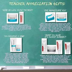 It's Teacher Appreciation Week.   Rodan + Fields make Great teacher gifts for now and for end of the year gifts!!  Show your child's teacher how much you appreciate  them!  courtneybrown1.myrandf.com