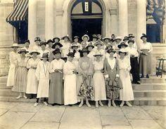 vintage photo of suffragettes
