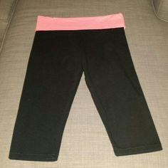 Pink Victoria secret yoga capri pants Pink Victoria secret yoga capri pants. They are  new .Never been worn. Size small PINK Victoria's Secret Pants Capris