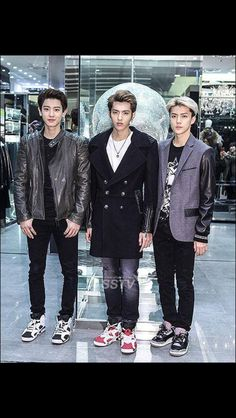 Chanyeol, Kris, and Sehun
