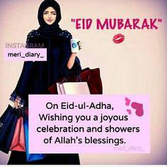 A very pleasant Eid to everyone 💓 Eid Mubarak Greetings, Happy Eid Mubarak, Eid Quotes, Girly Quotes, Eid Ul Azha Mubarak, Eid Status, Eid Pics, Ramzan Eid, Eid Mubarak Images