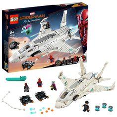 LEGO 76130 Marvel Stark Jet and the Drone Attack Building Set, Multi-Colour Marvel Avengers Assemble, Lego Marvel's Avengers, Lego Marvel Super Heroes, Lego Spiderman, Superhero, Univers Marvel, Lego Online, Lego City Police Station, Iron Man