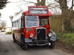 Vintage Bristol LL at Costessey whilst re-creating 1950s Eastern Counties Omnibus Company service 13, as part of the Norwich Classic Bus Running Day