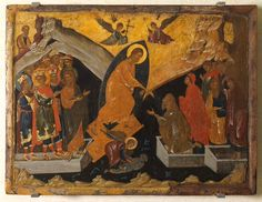 The Eis Descent , an unknown painter from Constantinople The image shows the Resurrection of Christ, which in Byzantine art is attributed to the Descent of Christ in Hades, according to Nicodemus' secret gospel. Byzantine Art, Byzantine Icons, Constantine The Great, Life Of Christ, Religious Icons, Orthodox Icons, Christian Art, British Museum, Image Shows