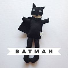 Batman Doll, DC Comics, Handmade Doll, Birthday Gift, Collectible Doll, Made to Order, Superhero by TheDandelionAttic on Etsy https://www.etsy.com/listing/473854298/batman-doll-dc-comics-handmade-doll