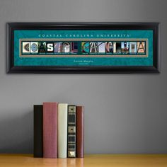 I love the colors in the Framed Coastal Carolina University Architectural Elements Print. At only $52.49 the price can't be beat for this great graduation gift. Available at Arttowngifts.com.