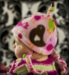 Free fleece hat with top knot pattern/tutorial