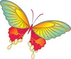 Cartoon Yellow Butterfly Clipart