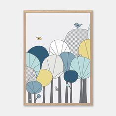 This gorgeous print is the perfect decor for the bedroom or nursery, and will…