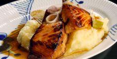 Balsamico- og soyamarinert laks med potetstappe