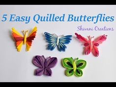 DIY Making Tutorial of Basic Quilling coils/ shapes. Easy & most comprehensive guide for beginners to learn All Quilling basics. Basic Quilling Shapes - Part. Neli Quilling, Quilling Butterfly, Quilling Videos, Paper Quilling For Beginners, Quilling Comb, Origami And Quilling, Quilling Techniques, Diy Butterfly, Butterfly Dragon