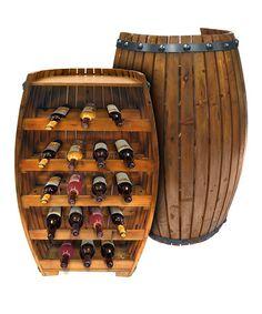 Barrel Wine Bottle Storage Unit