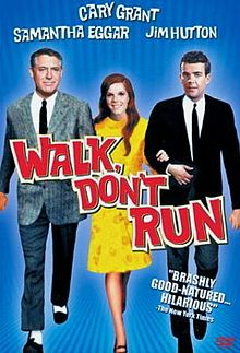Walk, Don't Run is a 1966 comedy film set in Tokyo during the Olympic Games in 1964. The movie marked the last appearance by Cary Grant in a feature film. Sir William Rutland (Cary Grant) is an important English businessman who arrives in the city two days early and is greeted by the housing shortage caused by the 1964 Summer Olympics in Tokyo. While at the British Embassy seeking help, he notices an announcement of an available apartment and decides to check the place out.