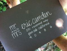 Wedding invitation calligraphy by GraySnailPress in Etsy