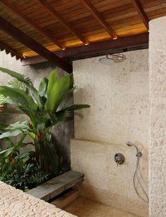 Semi-outdoor shower