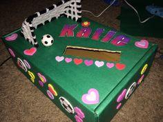 Soccer Valentines box