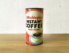 G. Washington's Instant Coffee Tin / 1950s by RedRavenCollectibles