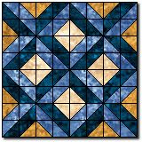 """Constellation Quilt Block Pattern and Instructions12"""" block"""