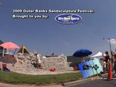 Outer Banks Sand Sculpture Festival - at Kitty Hawk Sports in Nags Head, NC.   www.homeaway.com/vacation-rentals/north-carolina/kitty-hawk/r5611