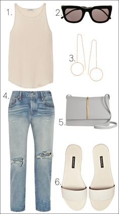 Le Fashion Blog How To Wear Ripped Jeans Net A Porter Sale Summer Nude Tank Top Delicate Gold Earrings Levis Denim Nina Ricci Arc Grey Bag White Slide Sandals photo Le-Fashion-Blog-How-To-Wear-Ripped-Jeans-Net-A-Porter-Sale-Summer-Nude-Tank-Top-Levis-Denim-Grey-Bag-White-Slide-Sandals.jpg