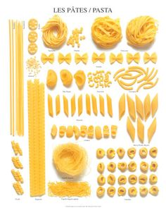 Pasta variety / food guide