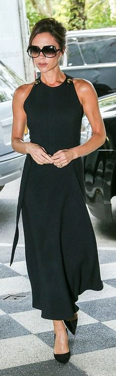 Victoria Beckham: Sunglasses – Cutler and Gross  Dress – Victoria Beckham Collection