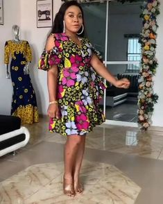 Short African Dresses, Latest African Fashion Dresses, African Print Fashion, Nigerian Dress Styles, Ankara Dress Styles, African Fashion Traditional, African Attire, Ankara Tops, African Dress Designs