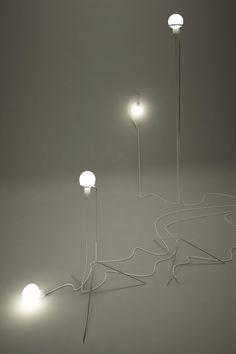 so many options_alan kravchenko Unique Lighting, Lighting Design, Cool Chandeliers, Contemporary Light Fixtures, Creative Lamps, Light Installation, Ceiling Pendant, Lamp Design, Interior Lighting