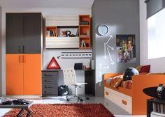 Habitación con Armario de 4 puertas y módulos