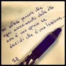 Lezione della vita...